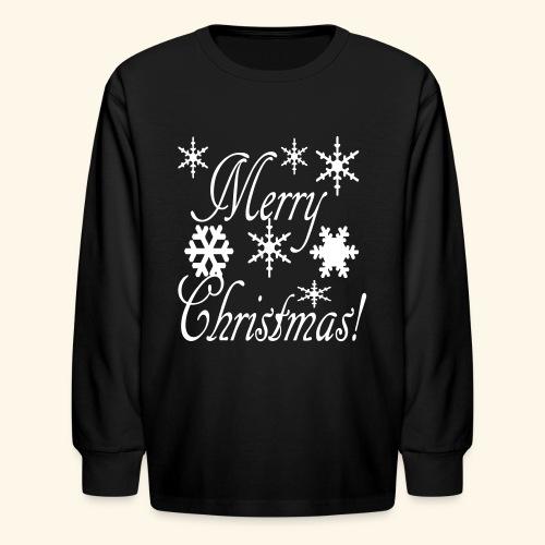 Merry Christmas Snowflakes - Kids' Long Sleeve T-Shirt