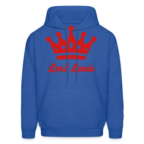 Red Print Lord Louie Hooded sweatshirt - Men's Hoodie