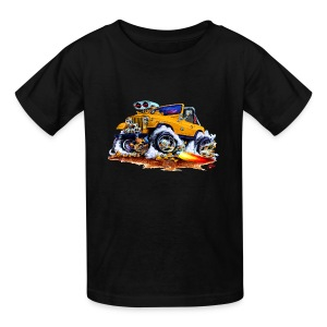 Jeep orange car - Kids' T-Shirt
