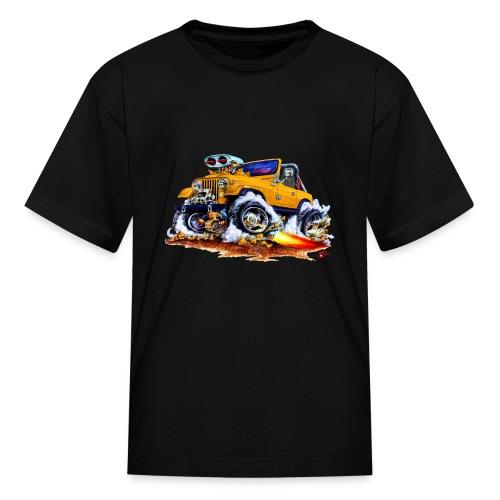 Jeep orange car - Kids' T-Shirt