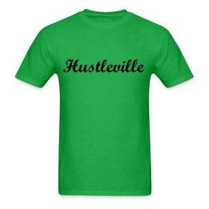 Men's Hustleville Cursive Black Letter T-Shirts - Men's T-Shirt