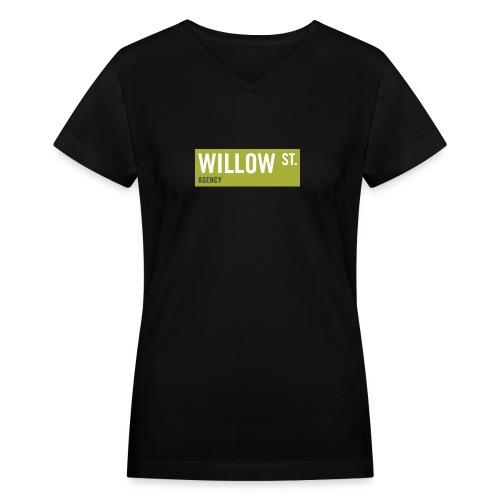 Willow St. Sign - Women's V-Neck T-Shirt