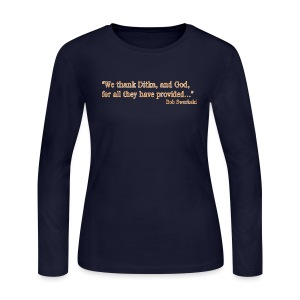Ditka and God - Women's Long Sleeve Jersey T-Shirt