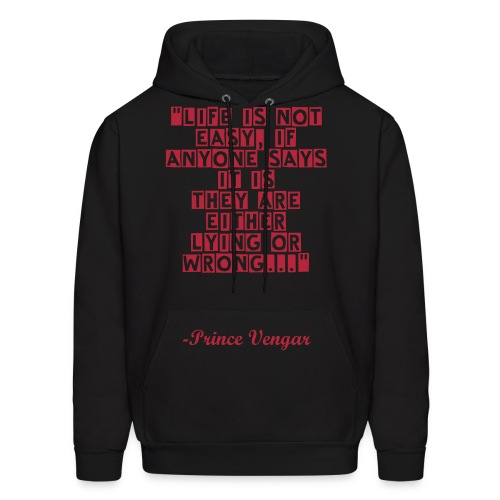 LOA Prince Quote Hoodie Red Font - Men's Hoodie