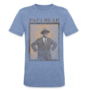 Papa Bear - Unisex Tri-Blend T-Shirt by American Apparel