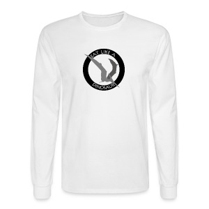 Pterodactyl ~ Eat Like a Dinosaur - light or white shirt - Men's Long Sleeve T-Shirt