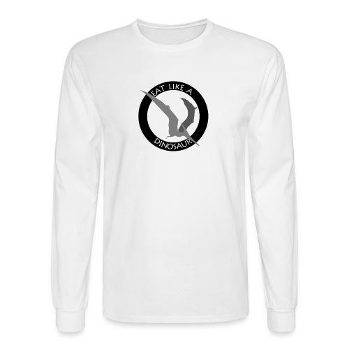Pterodactyl ~ Eat Like a Dinosaur - light or white shirt - Men's Long Sleeve T-Shirt