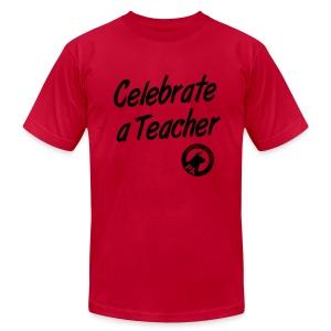 Men's Slim Fit -  Celebrate A Teacher - Durham People's Alliance - Men's Fine Jersey T-Shirt