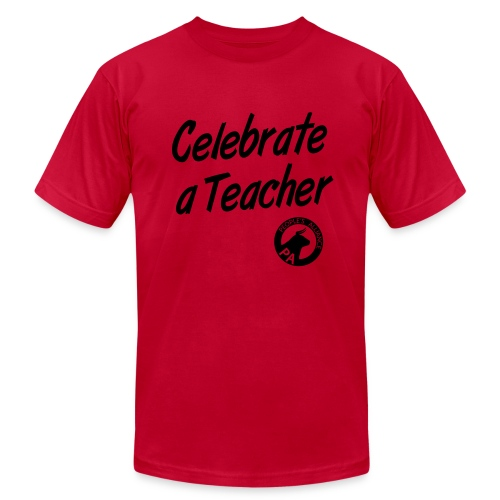 Men's Slim Fit -  Celebrate A Teacher - Durham People's Alliance - Men's Fine Jersey T-Shirt
