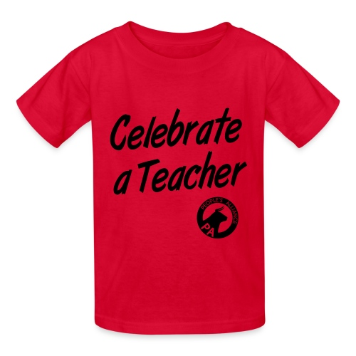 Kid's - Celebrate A Teacher - Durham People's Alliance - Kids' T-Shirt