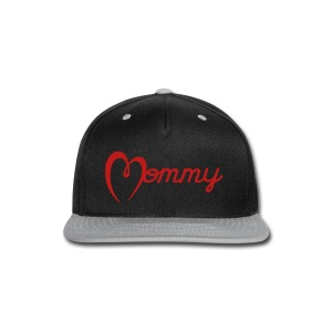 Mommy Hat (red GLITTER) - Snap-back Baseball Cap