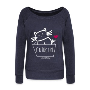 Women's Wideneck Sweatshirt - whiskers,whisker,shelter,meow,love meow,love,kittens,kitten,feline,crazy cat lady,cats,cat lady,cat
