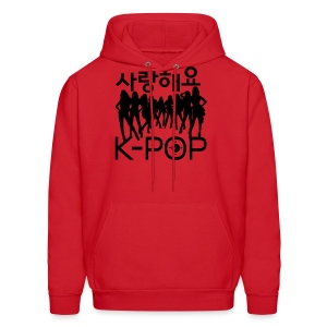 Sarang haeyo K-POP  music Men's Hooded Sweatshirt - Men's Hoodie