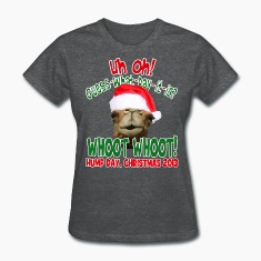 Hump Day Camel Santa Christmas 2013 Womens T-shirt
