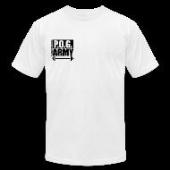 T-Shirts ~ Men's T-Shirt by American Apparel ~ Do You Even Lift Hippie Black SHIRT