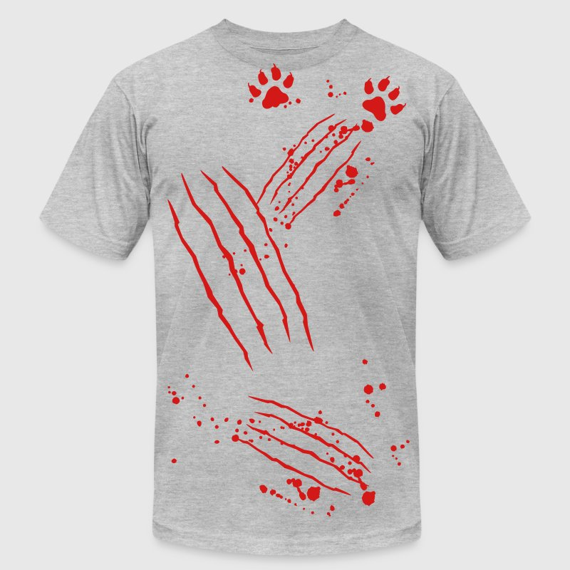 Scratch mark with blood and paws T-Shirts - Men's T-Shirt by American Apparel