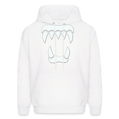 ANML White Hoodie With White Logo  - Men's Hoodie
