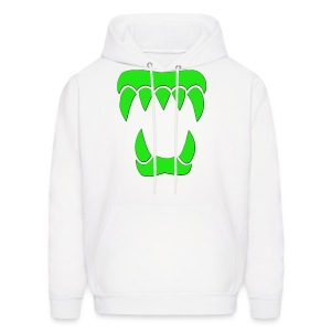 ANML White Hoodie With Green Logo  - Men's Hoodie
