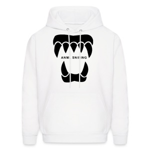 ANML White Hoodie With Black Logo And 'ANML Sniping' Text - Men's Hoodie