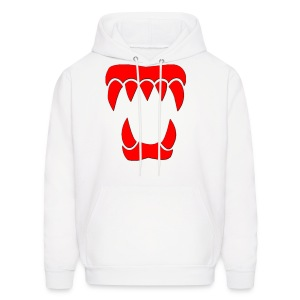 ANML White Hoodie With Red Logo  - Men's Hoodie