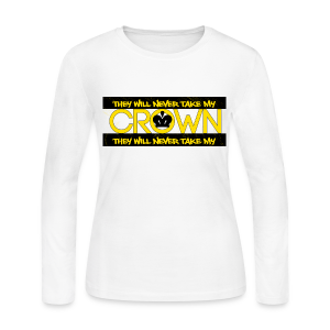 LADYS CROWN GOLD - Women's Long Sleeve Jersey T-Shirt
