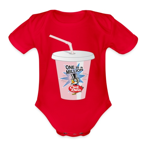 Cock Robin Milk Shake Baby Shirt - Organic Short Sleeve Baby Bodysuit