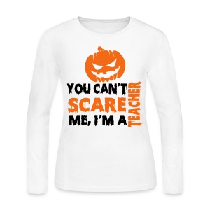 You can't scare me pumpkin-long sleeved - Women's Long Sleeve Jersey T-Shirt