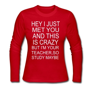 Study Maybe-long sleeved - Women's Long Sleeve Jersey T-Shirt