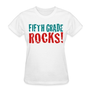 Fifth Grade Rocks-white - Women's T-Shirt