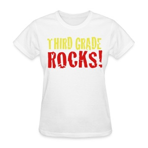 Third Grade Rocks-white - Women's T-Shirt