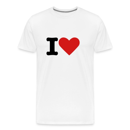 I Love Heart Tshirt - Men's Premium T-Shirt