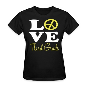 Peace Love 3rd - Women's T-Shirt
