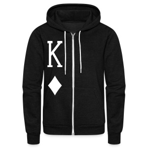 King of Diamonds jacket - Unisex Fleece Zip Hoodie by American Apparel