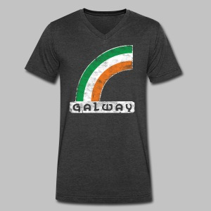 Galway Rainbow - Men's V-Neck T-Shirt by Canvas