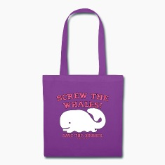 Screw the whales - Save the boobies! Tote