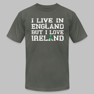 Live England Love Ireland - Men's T-Shirt by American Apparel