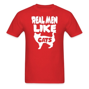 Real Men Like Cats - Men's T-Shirt