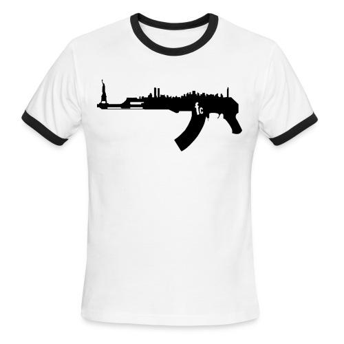 AK 47 NY Skyline - Men's Ringer T-Shirt