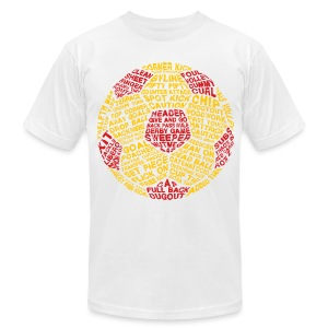 Soccer Ball Typography Men's T-Shirt - Men's T-Shirt by American Apparel