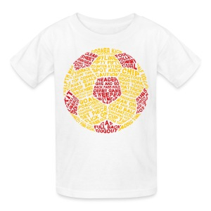 Soccer Ball Typography Kids' T-Shirt - Kids' T-Shirt