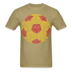 Soccer Ball Typography Men's T-Shirt - Men's T-Shirt