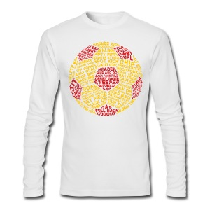 Soccer Ball Typography Men's T-Shirt - Men's Long Sleeve T-Shirt by Next Level