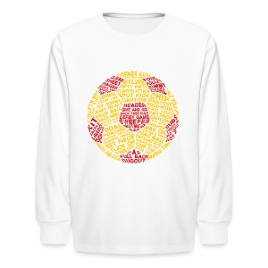 Soccer Ball Typography Kids' T-Shirt - Kids' Long Sleeve T-Shirt