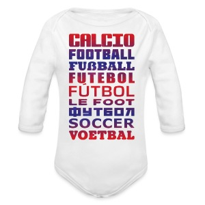 Soccer Languages Baby T-Shirt - Long Sleeve Baby Bodysuit