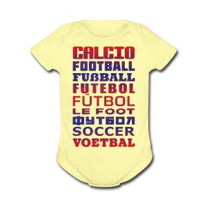 Soccer Languages Baby T-Shirt - Short Sleeve Baby Bodysuit