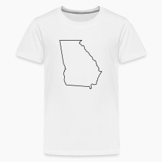 Georgia,map,landmap,land,country,outline Kids' Shirts