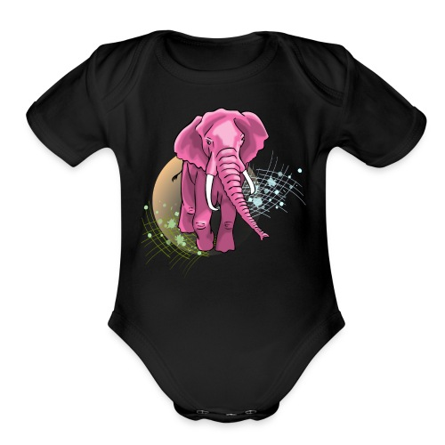 La vie en rose - Short Sleeve Baby Bodysuit
