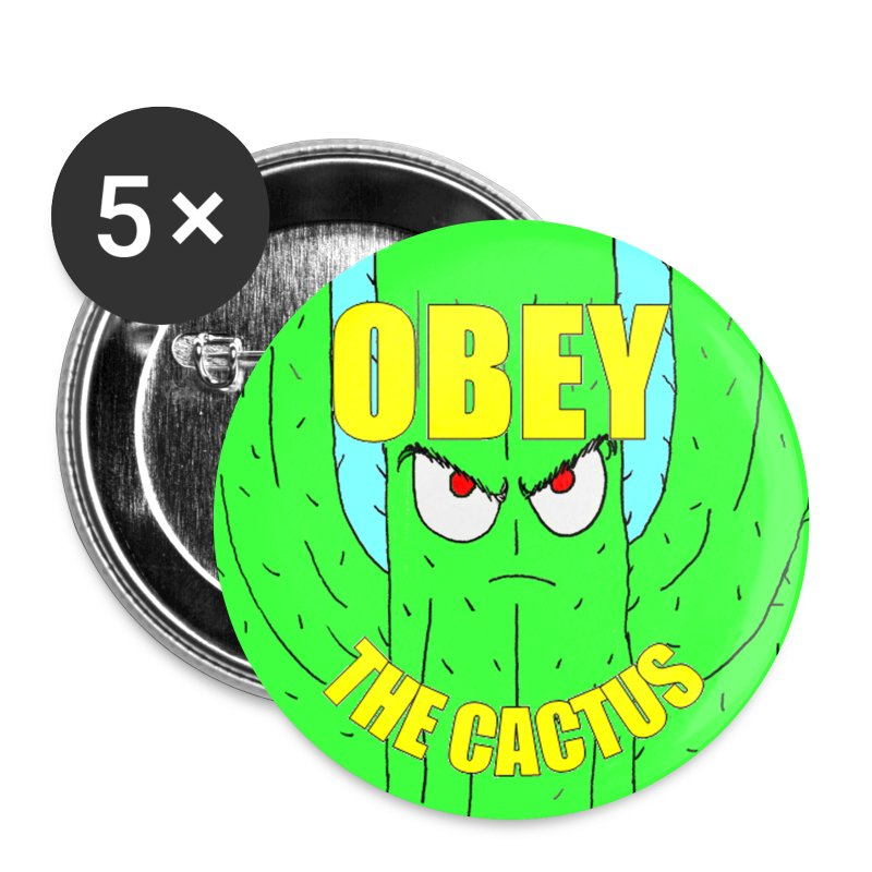 Obey The Cactus Button - Large Buttons