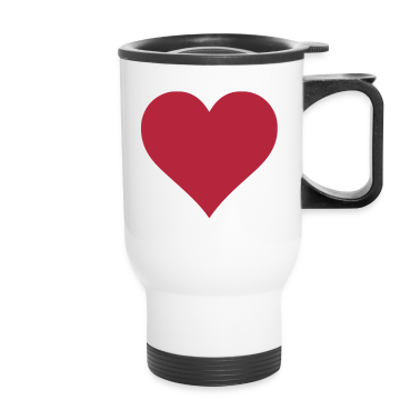 Plain Heart Bottles & Mugs