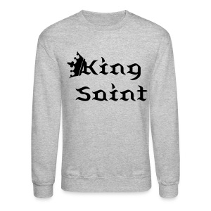 King Saint-Black Text - Crewneck Sweatshirt